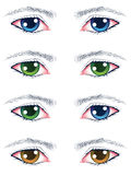 Colorful Male Eyes Royalty Free Stock Photography