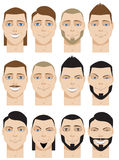 Colorful Male Faces Royalty Free Stock Photography