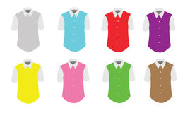 Colorful male t-shirts Royalty Free Stock Photography