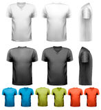 Colorful male t-shirts. Design template. Stock Photos