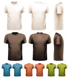 Colorful male t-shirts. Design template. Royalty Free Stock Photos
