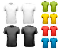 Colorful male t-shirts. Design template. Stock Image