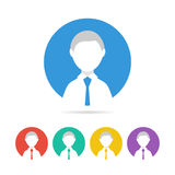 Colorful male user sign icon. Human avatar. Royalty Free Stock Images