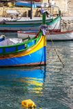 Colorful Maltese Luzzu boat royalty free stock photography