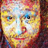 Colorful man face royalty free illustration