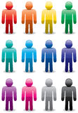 Colorful man symbols Stock Photography