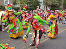 Colorful Man and Women at the Parade Stock Image