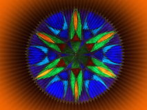 Colorful mandala abstract Stock Images