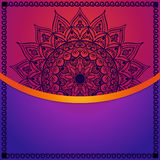Colorful mandala card. Template for business card or invitation. Royalty Free Stock Photo