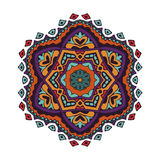 Colorful mandala design. Abstract pattern. doodle star sign Stock Images