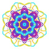 Colorful Mandala. Ethnic tribal ornaments. Geometric and floral motifs Royalty Free Stock Images
