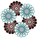 Arabic Colorful Mandala. Ethnic tribal ornaments Royalty Free Stock Photos