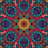 Colorful mandala flower pattern. Abstract ethnic seamless mandala flower pattern ornamental. abstract pattern Stock Photo