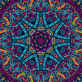 Colorful mandala flower pattern. Ethnic geometric print. Colorful repeating background texture Stock Images