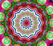 Colorful mandala forms, abstract background Royalty Free Stock Image