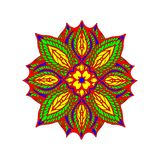 Colorful mandala Love, money, luck,, on a white background. Royalty Free Stock Photos