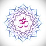 Mandala with omkara sign inside Stock Photos