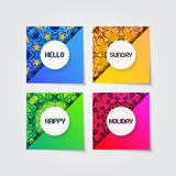 Colorful mandala ornament template collection. In modern stylish gradient Royalty Free Stock Photography