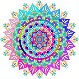 Colorful mandala. Colorful ornate flower mandala background Stock Photography