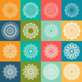16 Colorful Mandala Set. Circular pattern in form of mandala. vector illustration