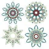 Arabic Colorful Mandala set. Ethnic tribal ornaments Royalty Free Stock Images