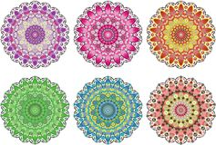 Beautiful mandala set. royalty free illustration