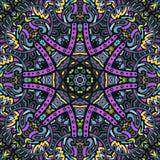 Colorful mandala vector. Colorful mandala doodle vector ethnic tribal pattern Royalty Free Stock Photos