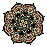 Colorful mandala vector isolated on stock illustration