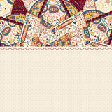 Colorful Mandala Vintage Card Stock Image