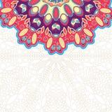 Colorful Mandala Vintage Card Stock Image