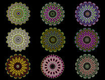 Colorful mandalas Stock Image