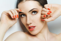 Colorful manicure Royalty Free Stock Photography