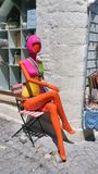 Colorful mannequin Royalty Free Stock Image