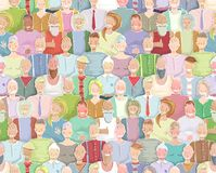 Colorful Many People Throng Tileable Background Stock Photos