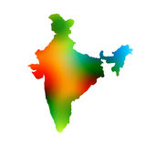 Colorful map of india Royalty Free Stock Photos