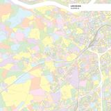 Colorful map of Leonding, Austria Stock Photos