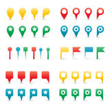 Colorful Map Pins. Royalty Free Stock Photography