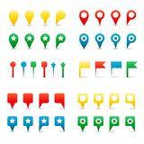 Colorful Map Pins. Stock Image