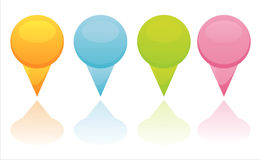 colorful mapping pins Royalty Free Stock Photo