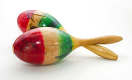 Colorful maracas Royalty Free Stock Image