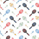 Colorful maracas seamless pattern. Musical instruments Royalty Free Stock Images