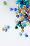 Colorful  marble ball background Stock Images