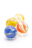 Colorful Marble Glass on White background Royalty Free Stock Images