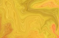 Colorful marble surface. Yellow marble pattern of the blend of curves. Abstract pattern Royalty Free Stock Photos