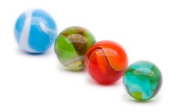 Colorful marbles Stock Photography