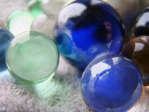 Colorful marbles close up Stock Images