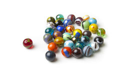 Colorful Marbles on White Royalty Free Stock Photo