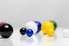 Colorful marbles on white background Royalty Free Stock Images