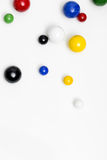 Colorful marbles on white background Royalty Free Stock Photography