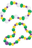 Colorful Mardi Gras Beads. The good ones, you never actually catch Royalty Free Stock Photography